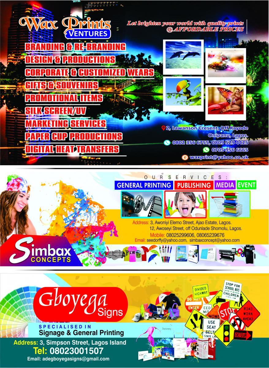 Wzx Print, Simbax, & Gboyega